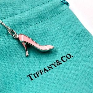 Tiffany & Co. Silver Pink Heel Necklace